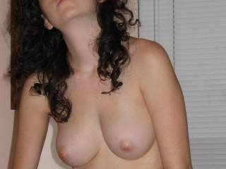 would love to see that look on your face as I cum over your hot smile and your very nice tits