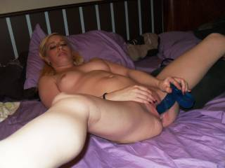 Id like to lick and suck on your pussy and clit while you play with your new toy,Get a MR Rabbit you,ll love it,