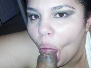 My wife wants to suck a huge cock..