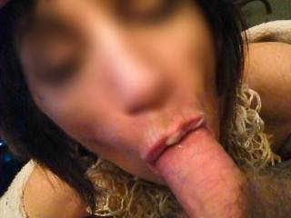 Do you think you could take those lips away from that cock and wrap them around my wifes pussy while I fuck you from behind with my big fat hard cock