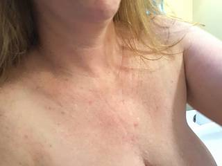 Hubby likes my tits wrapped around his cock... how would you like me?