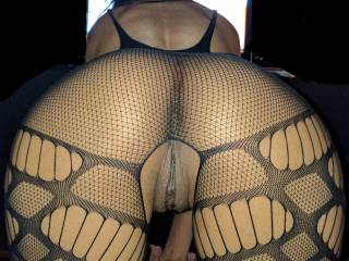 And now my absolute fav pic of wifey!...OMFG!!! Her pussy and ass look soo amazing in this outfit. Send her naughty comments, she loves to hear them.