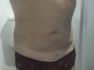 A body shot of me wearing panties