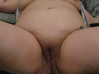 Wifes hairy pussy before shaving it.. What do you think?