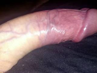 a stiff hard cock ready to blow