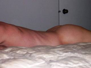 Face down on the bed.  I\'ll roll over for a nice looking woman.