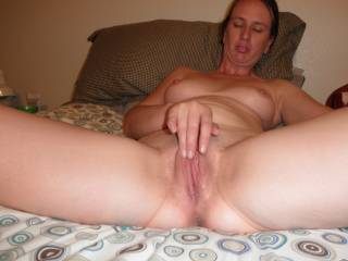I bet you would ruin your sheets if i licked and sticked your pussy =)