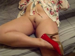 Do you like my red heels?