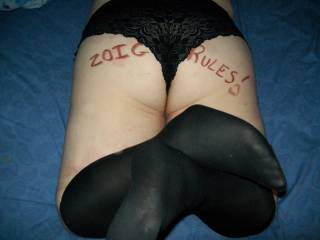 Like my new stockings from my always horny hubby?
