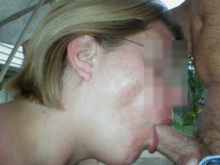 She\'s sucked dick all over the world but there\'s nothing like getting a knobber in your own back yard. She even left her glasses on. Do you like a woman in glasses sucking your dick?