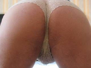 Now there is an arse i'd love to lick, panties suit you btw