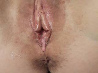 We took these right after the 2 newest videos.  How amazing does that wet and used pussy look?