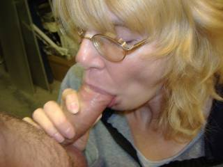 My tenant sucking harder and faster getting me close to cumming.