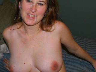 Tits exposed and soaked