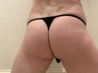 My black thong! Doesnt leave much to the imagination.