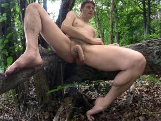 Naked hike in the great outdoors