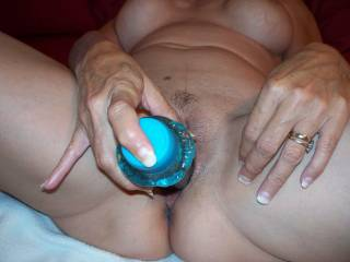 Kathy stuffs a ten inch dildo in her tight little hole stretching her pussy wide. This lady knows what she needs and she loves taking a big cock in her tight pussy. Think you can help her out, if so let her know!