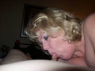 Since I was laying there watching her get fucked by another buddy, Mrs Daytonohfun started sucking my cock as I reloaded