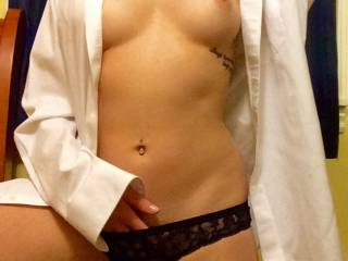 I don't think there is much else that is sexier than a chick in a man's white dress shirt... reminds all of us of those days when you woke up with that hot cutie after a night of torrid fucking and she put on that shirt! Canadian chicks seem to look hotter even ;)