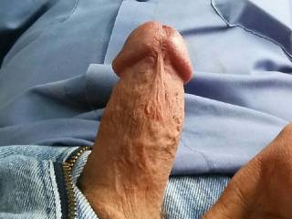I'd love to suck that cock while my hubby watches you fill my mouth with your hot creamy cum.