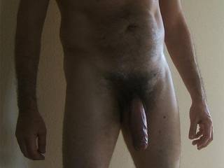 Mmmmm, you have a sexy body and one gorgeous cock. That's another beautiful cock picture.   You take such sexy cock pictures.  I love your cock....it is so beautiful....I could fondle it all day....even suck it all day.  I want to make it cum.  MILF K