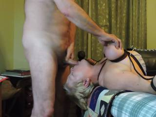 He tied me to the bed and made me suck him dry.