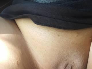 CHINESE JENN - Close-Up of Asian Jenn moist pussy before our Roadtrip