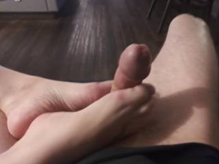 She plays with my cock so much with her feet, love those sexy feet wrapped around y cock