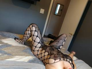 Laying around waiting for my bull to cum fuck me. Hubby sent him this while we wait