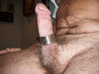 just wearing a few rings on my cock