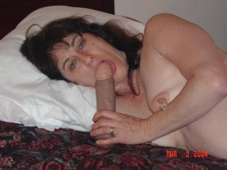Nice .you've gotta cum watch our video with my wife and that very same dildo and me ...and then try it ...