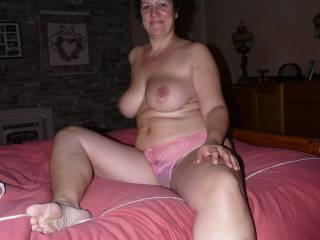 mmmm love the sheer panties over that sweet bush