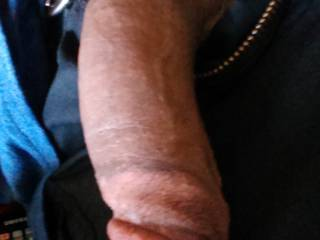 Love to be on my knees taking that big thick cock in my mouth...feeling it grow hard into my throat....throbbing...then twitching as your cum streams down my throat