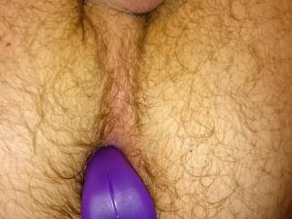 Big curious guy playing with cock and ass. First time with vibrator in my virgin ass