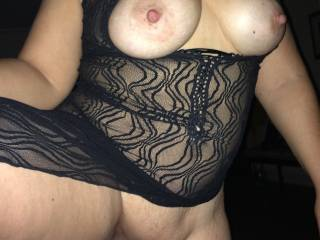 I'd start with my lips and tongue enjoying those incredible tits, but it wouldn't be long before I was down between your legs licking your pussy.
