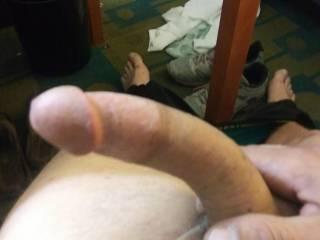 My hard cock needs sucked