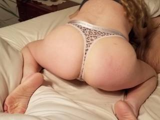 Gonna pull that thong aside and kiss her sweet little butthole!!!!!