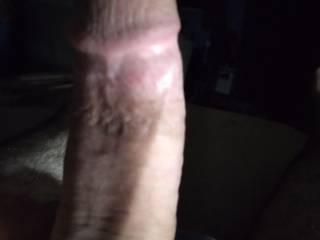 a good close up of my vary hard dick any one want to hop on it and go for a ride..?