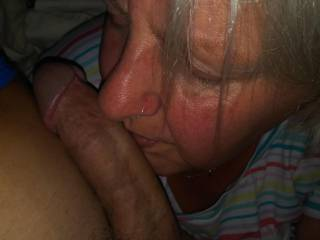 She loves to worship my throbbing cock and Damn she is good at it. Lucky me