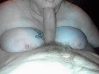 Phenominal talent using her sensuous lips and luscious tits in perfect harmony getting that big cock off so erotically!  Can I be next...?