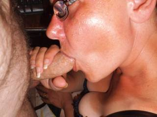 Mmmmm I can. No offense but I wish she was looking up at me with my hard cock in her mouth. She has I eyes that cut right through a man. I love them. She is sooooo hot and sexy