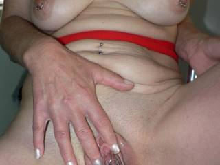 Hmmm thast it babe my little clit is nice and hard now.
