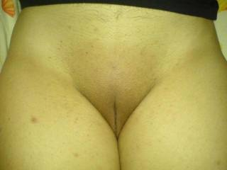 my wife pussy. big and soft. i lick her