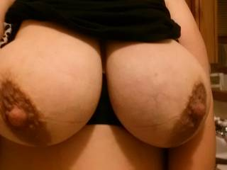 Kittie\'s large sexy tits. Who wants to play with them?