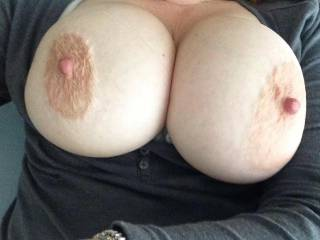 I love your big beautiful tits! I wanna squeeze em,kiss em,nibble em,lick em,suck em,fuck em and cum ALL OVER your huge tits with a huge load! May I?