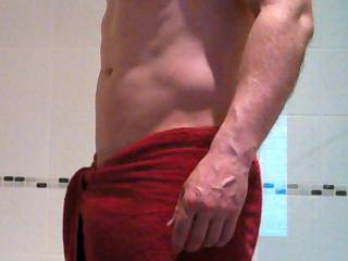 Feeling dirty so going for a shower. Need someone to wash my back... and anything else that comes to hand.