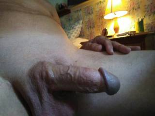 Jacking off and shooting cock pics getting stiff.