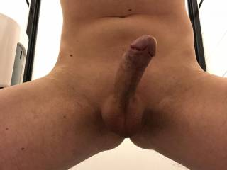 Shaved dick at work