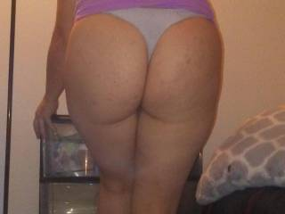 Me and my big butt getting dressed for work. Wish you were here.
