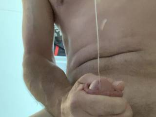 I was surprised how much cum I shot considering this was after I already pumped Kiki full. Shot 1